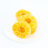 Sliced cirlce pineapple a Royalty Free Stock Photos