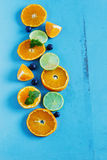 Sliced citrus fruit Royalty Free Stock Images