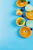 Sliced citrus fruit Stock Image