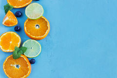 Sliced citrus fruit Stock Photography