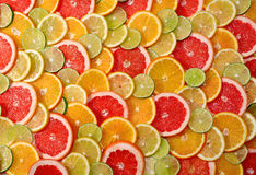 Sliced citrus fruits background Royalty Free Stock Image