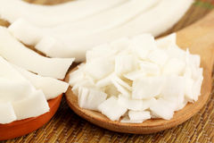 Sliced coconut Stock Photography