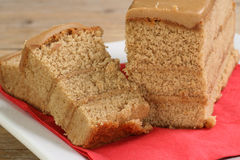 Sliced coffee cake Royalty Free Stock Photography