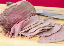 Sliced cold beef Royalty Free Stock Image