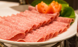 Sliced Cold Cuts Royalty Free Stock Photography