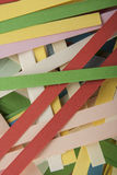 Sliced colored paper. As background Stock Image