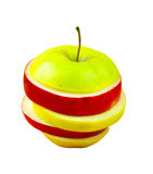 Sliced colorful apple Royalty Free Stock Photography