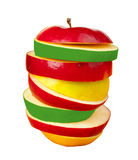 Sliced colorful apple Stock Photography