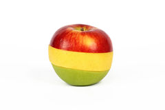 Sliced colorful apple Royalty Free Stock Image