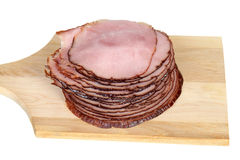 Sliced cooked ham Royalty Free Stock Images