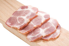 Sliced cooked pork neck Royalty Free Stock Images