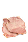 Sliced cooked smoked ham over white Royalty Free Stock Photography