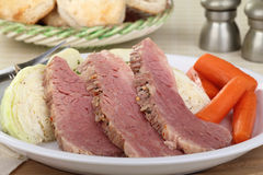 Sliced Corned Beef Dinner Royalty Free Stock Photo