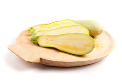 Sliced courgette Royalty Free Stock Photography