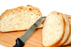 Sliced Cracked Wheat Sourdough Bread Royalty Free Stock Images