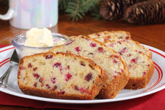 Sliced Cranberry Bread Stock Image