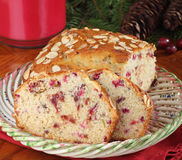 Sliced Cranberry Bread Stock Photography