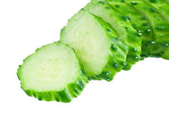 Sliced cucumber. On white background Royalty Free Stock Photography