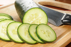 Sliced cucumber Stock Photo