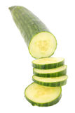 Sliced cucumber Stock Image