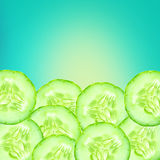 The Sliced Cucumber as background Royalty Free Stock Photo