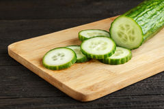 Sliced cucumber Stock Images