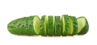 Sliced cucumber isolated Stock Photos