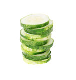 Sliced cucumber isolated on white Stock Photography