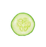 Sliced cucumber isolated on white background Royalty Free Stock Photos