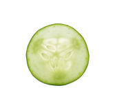 Sliced cucumber isolated on white background Royalty Free Stock Photography