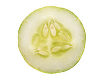 Sliced cucumber isolated on white background Royalty Free Stock Photo