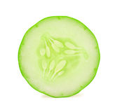 Sliced cucumber isolated on white Royalty Free Stock Image