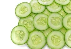 Sliced cucumber isolated on white background Stock Image