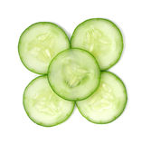 Sliced cucumber isolated on white background Stock Photos