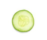 Sliced cucumber isolated on white background Royalty Free Stock Photo