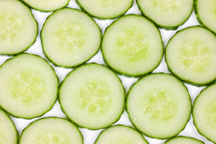 Sliced Cucumber Pattern stock image