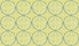 Sliced cucumber pattern, seamless close up background Stock Photos