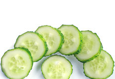 Sliced cucumber on plate Royalty Free Stock Image