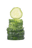 Sliced cucumber Royalty Free Stock Image