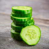 Sliced Cucumber in Stack Royalty Free Stock Image