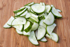 Sliced cucumber Stock Photos