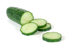 The sliced cucumber Stock Photo
