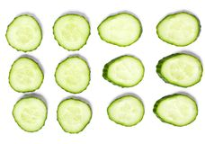 Sliced cucumber Stock Photo
