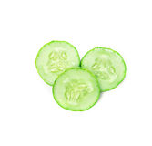 Sliced Cucumber on white background Royalty Free Stock Photo