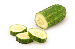 Sliced cucumber Stock Photography
