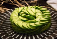 Sliced Cucumbers Royalty Free Stock Photo