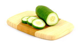 Sliced cucumbers angle Royalty Free Stock Images