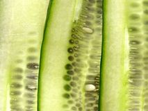 Sliced Cucumbers Background Stock Photos