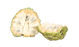 Sliced custard apples isolated on white Royalty Free Stock Photos