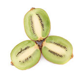 Sliced and cut kiwifruit composition Stock Images